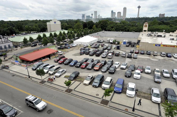 The valuable downtown parcel which was given to Hamister for $100,000 remains vacant. In recent years it was used as a parking lot.