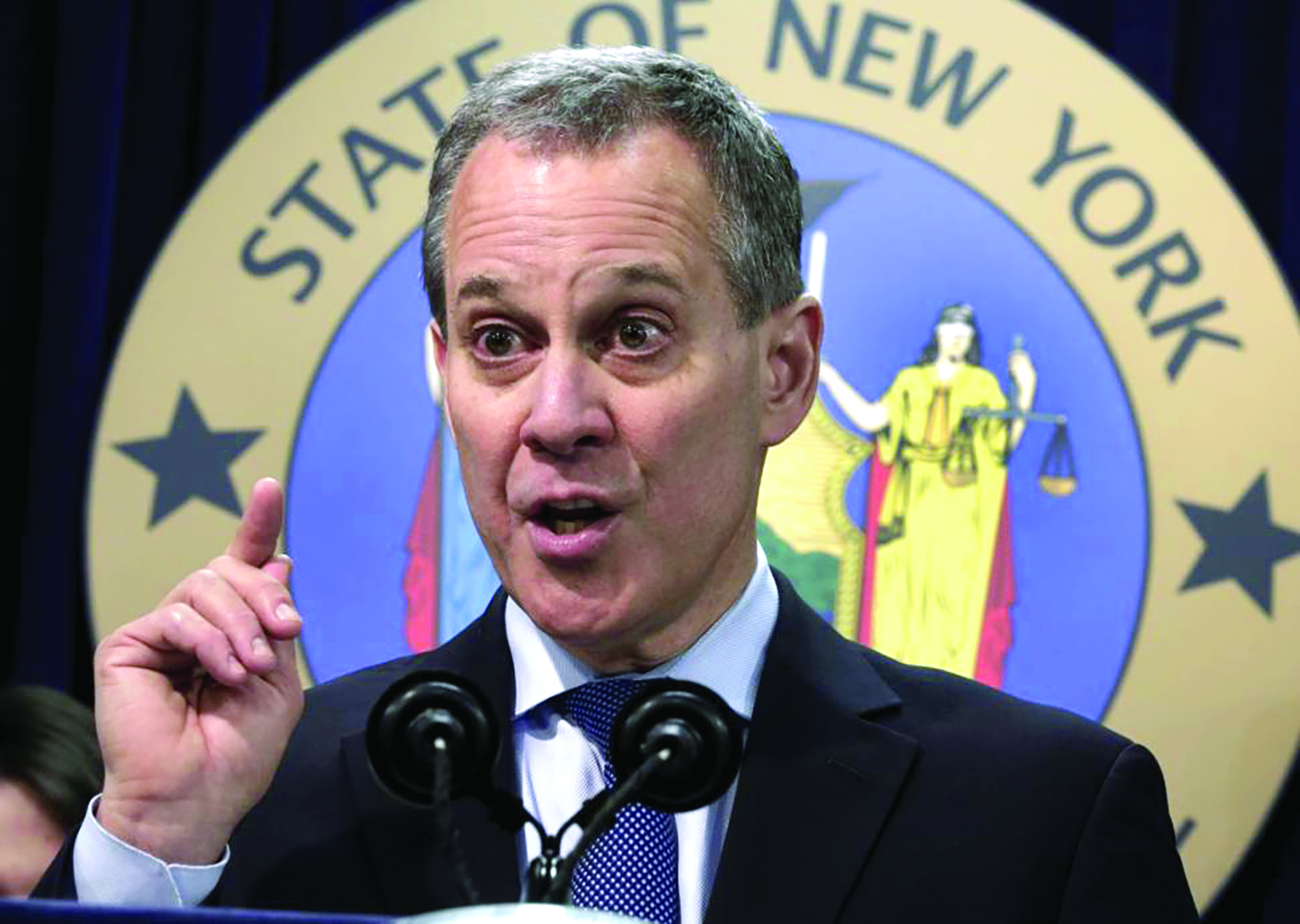 Bad Blood? New York State Attorney General Eric Schneiderman tangled with Steve Pigeon on the political front when Schneiderman was a state senator.