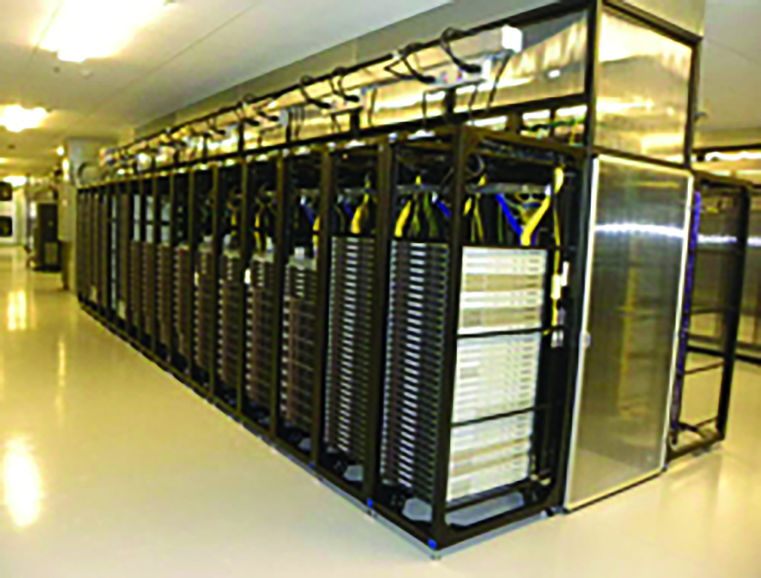 This Yahoo! server coop generates heat, which the cool temperatures of Niagara will help to offset.