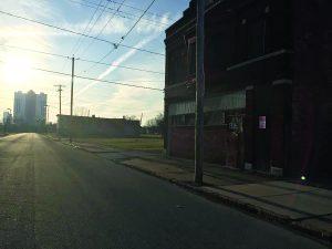 Vacant, derelict and empty describes the area near the Seneca Casino.