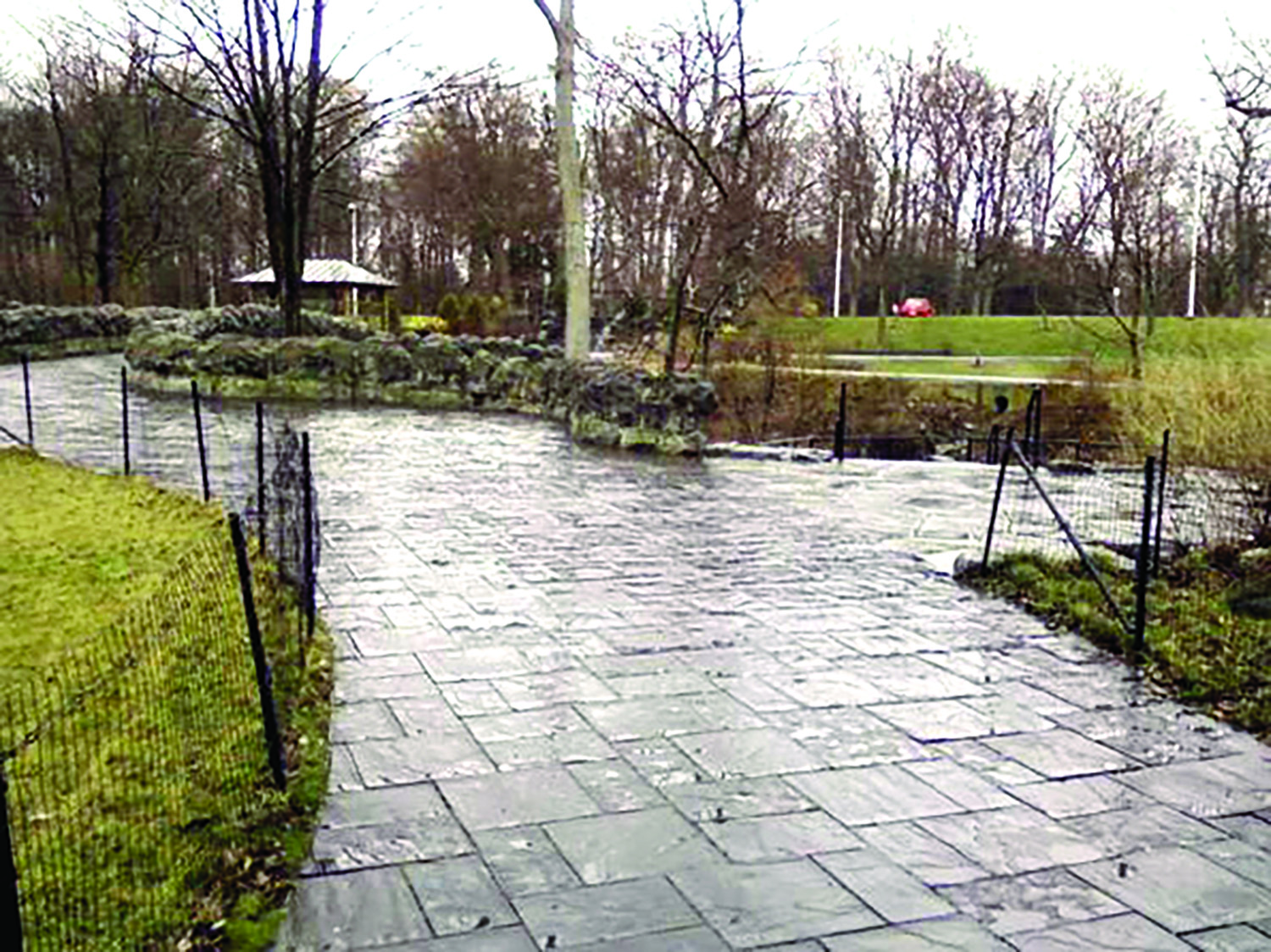 Fancy (and slippery) $60 per square foot granite pavers helped an Albany based contractor earn millions as part of the Niagara Falls State Park improvement plan.