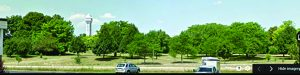 Before and After: An entire lot of hardwoods was cut down before Parks Police barracks construction was canceled.