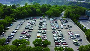 It costs $10 for the entire day to park in the Niagara Falls State Park which is why most people who come to Niagara Falls need to park their cars to see.