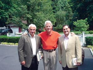 l-r: Tom Golisano, Bill Clinton and Steve Pigeon