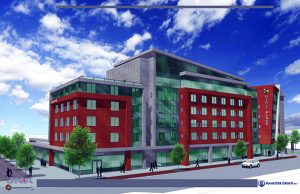 Despite the nonsensical claims of the Hamister hotel being a signature hotel and catalyst for development, it is merely a smallish, 128 room, few or no amenities  Hyatt Place hotel. Considering that it was located 300 feet from the entrance of the Niagara Falls State Park some would call it an horrific case of underdevelopment!