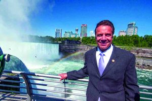 Governor Cuomo's austere smile says it all as he reflects on the natural wonder of the campaign donations he receives from Maid of the Mist owner James Glynn and Delaware North billionaire Jeremy Jacobs, who run Niagara Falls State Park as if they own it.
