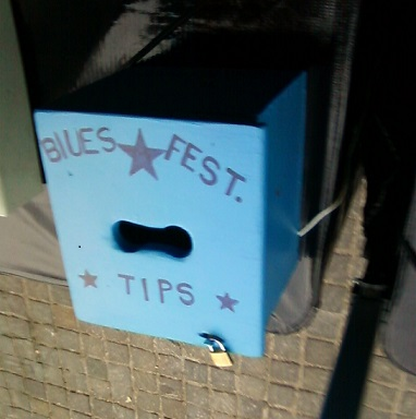 Tip the Blues Festival volunteers, or not.
