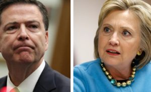"Hillary Clinton and FBI Director James Comey. Says Hillary, ""If he gets out of line, can't we just drone him?"" (BTW could you imagine what the mainstream media would have done had Trump spoken of ""droning"" someone (i.e murdering your enemy?)"