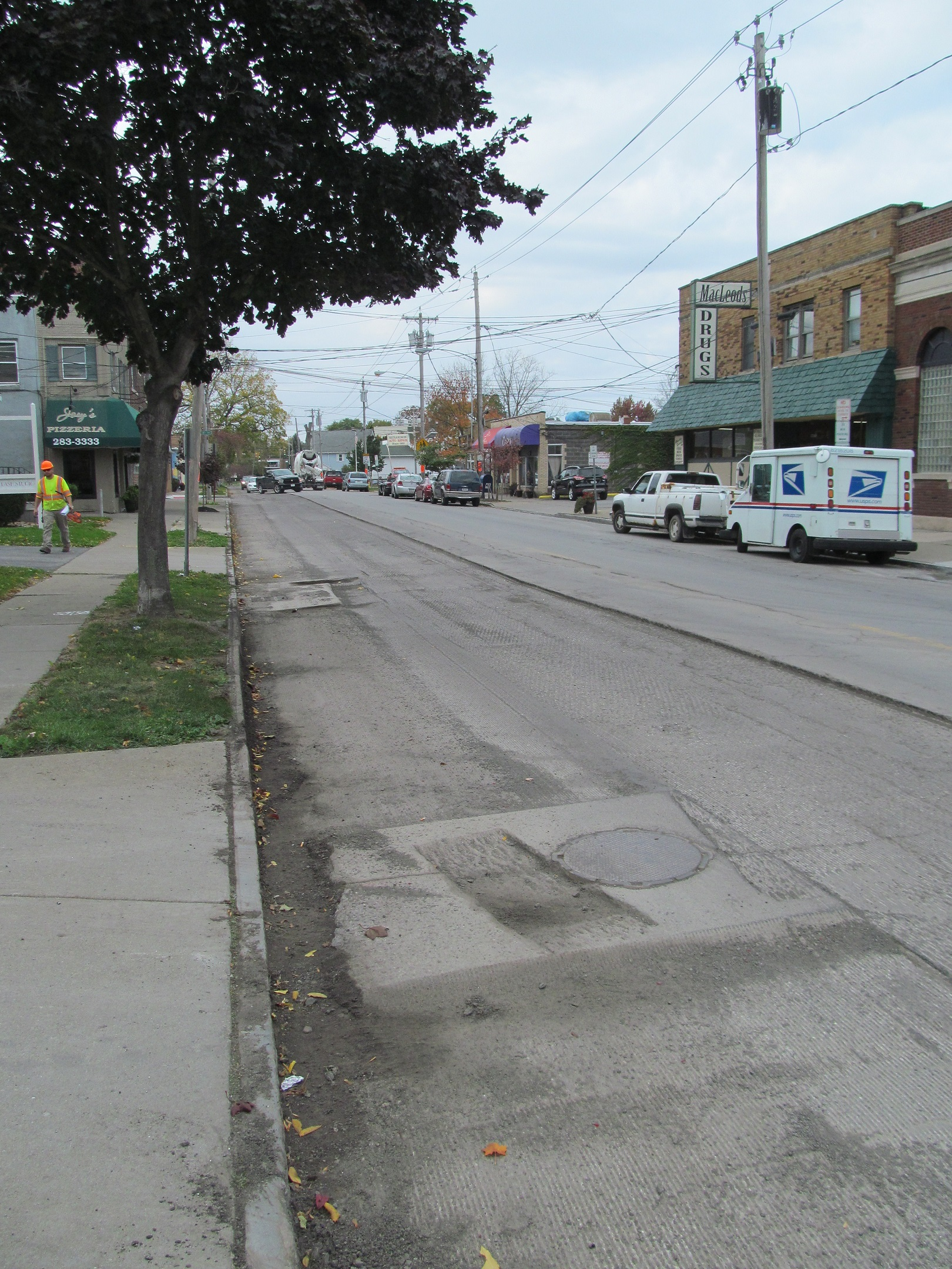 The standard practice of only 2 inches of milling and repaving in the city of Niagara Falls, such as is taking place on Buffalo Avenue, usually results in the blacktop cracking and potholes developing within just a few years, due to the brutally cold winters here.