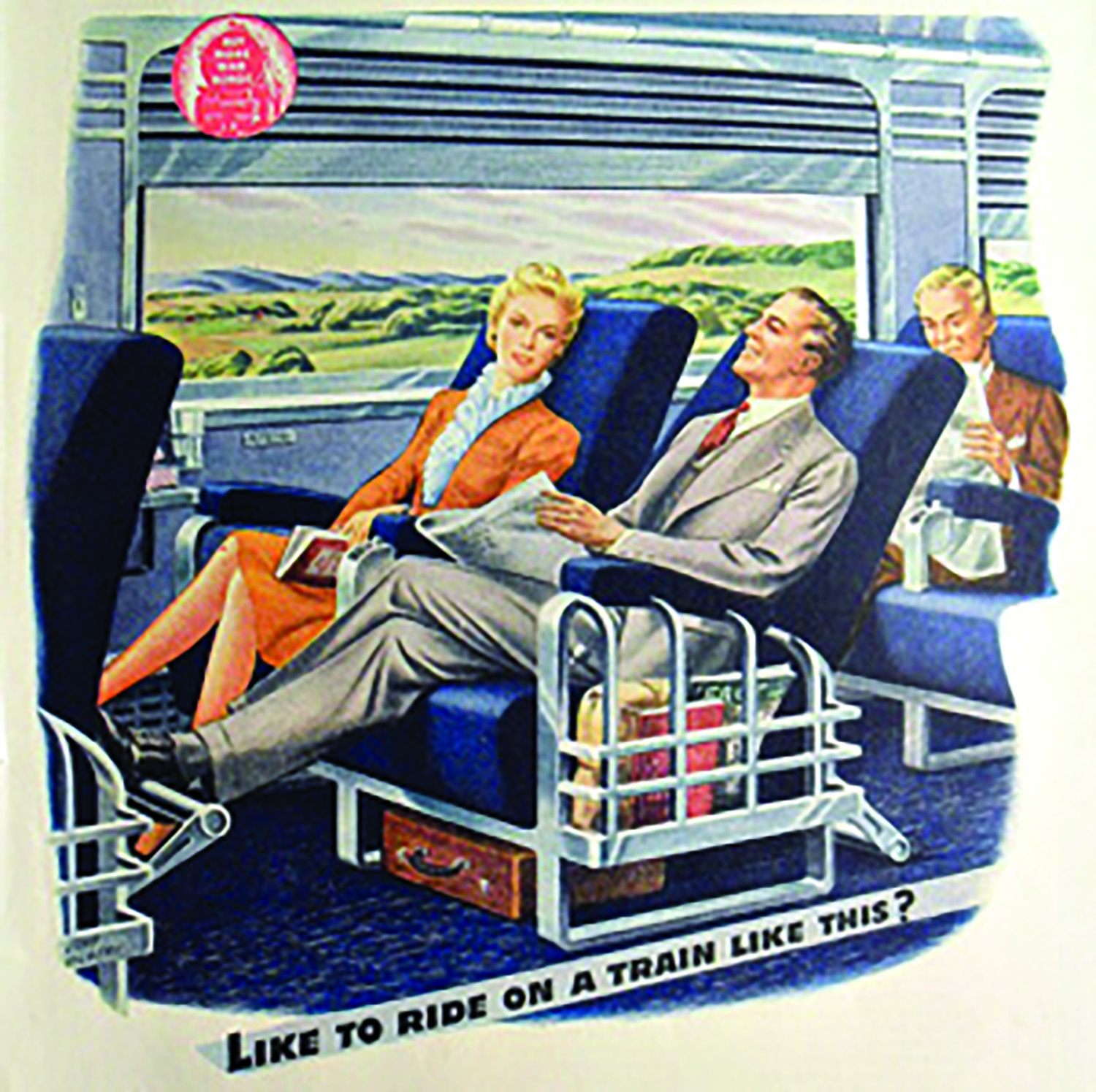 Perhaps Mayor Paul Dyster imagined train travel was still like this.