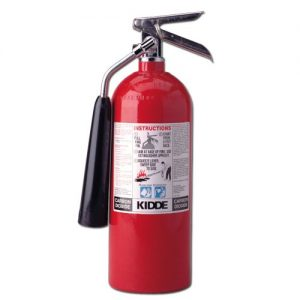 This simple CO2 fire extinguisher can take the place of a gun in subduing a dog on a police raid.