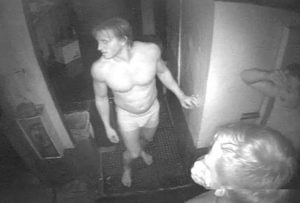 Cheeky Burglar caught on camera robbing home in his underwear.