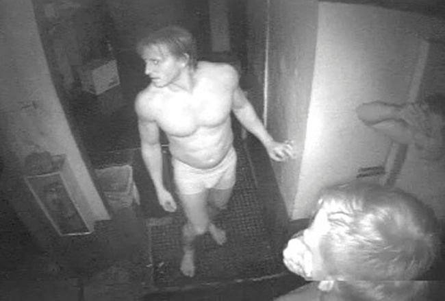 Cheeky Burglar caught on camera robbing home in his underwear.