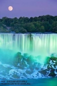 Imagine what Niagara Falls would look like illuminated by the natural light of a supermoon.