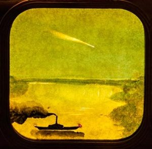 Donati's Comet of 1858 is featured on an antique stereoscope slide of that era.