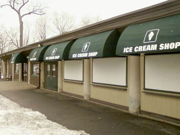 Delaware North concessions at Prospect Point in the Niagara Falls State Park soon to be serving eight million tourists.