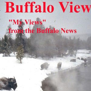 "Yellowstone National Park is evocative of ""the popular image of Buffalo as a wintry cold place"" in ""Buffalo Views"", the new book by Larry and Lyn Beahan."