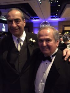James Roscetti and George Maziarz... honoree with former state senator.