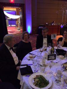 Mayor Paul Dyster... enjoys gala dinner
