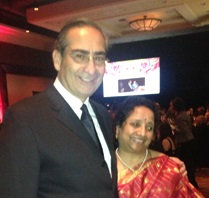 NFMMC Chairman Memorial Chairman James Roscetti (pictured with Dr. Sujatha Addagatla)