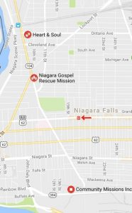 The other three overburdened soup kitchens of Niagara Falls, all of which are at least a half hour walk from the city's east end, are all located a good distance from the new low cost eatery strategically located on Pine Avenue.