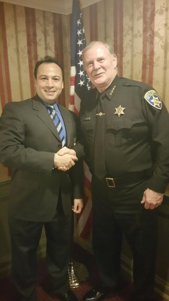 A. J. Verel   Sheriff Tim Howard ...sheriff will swear in Verel at Judges and Police event