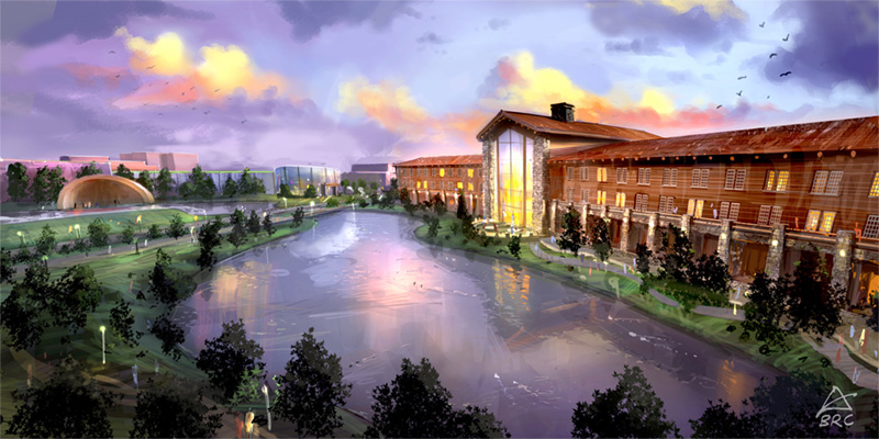 """Behold the Niagara Lodge (on right). Described as having """"breathtaking views of the Falls and State Park"""" can only mean that the new hotel is slated for Goat Island, not DeVeaux, Whirlpool or Devil's Hole State Parks."""