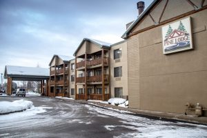 """Unlike Frank Zappa, Delaware North actually did """"Move to Montana."""" The Pine Lodge at Whitefish, Montana."""