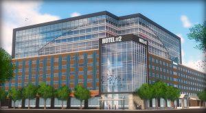 Rendering of proposed $50 million luxury hotel.