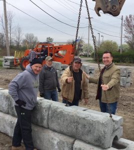 For retired Lt. Colonel Patrick Soos (L), a member of the Grand Island VFW, building the new DeGlopper Memorial is a labor of love.