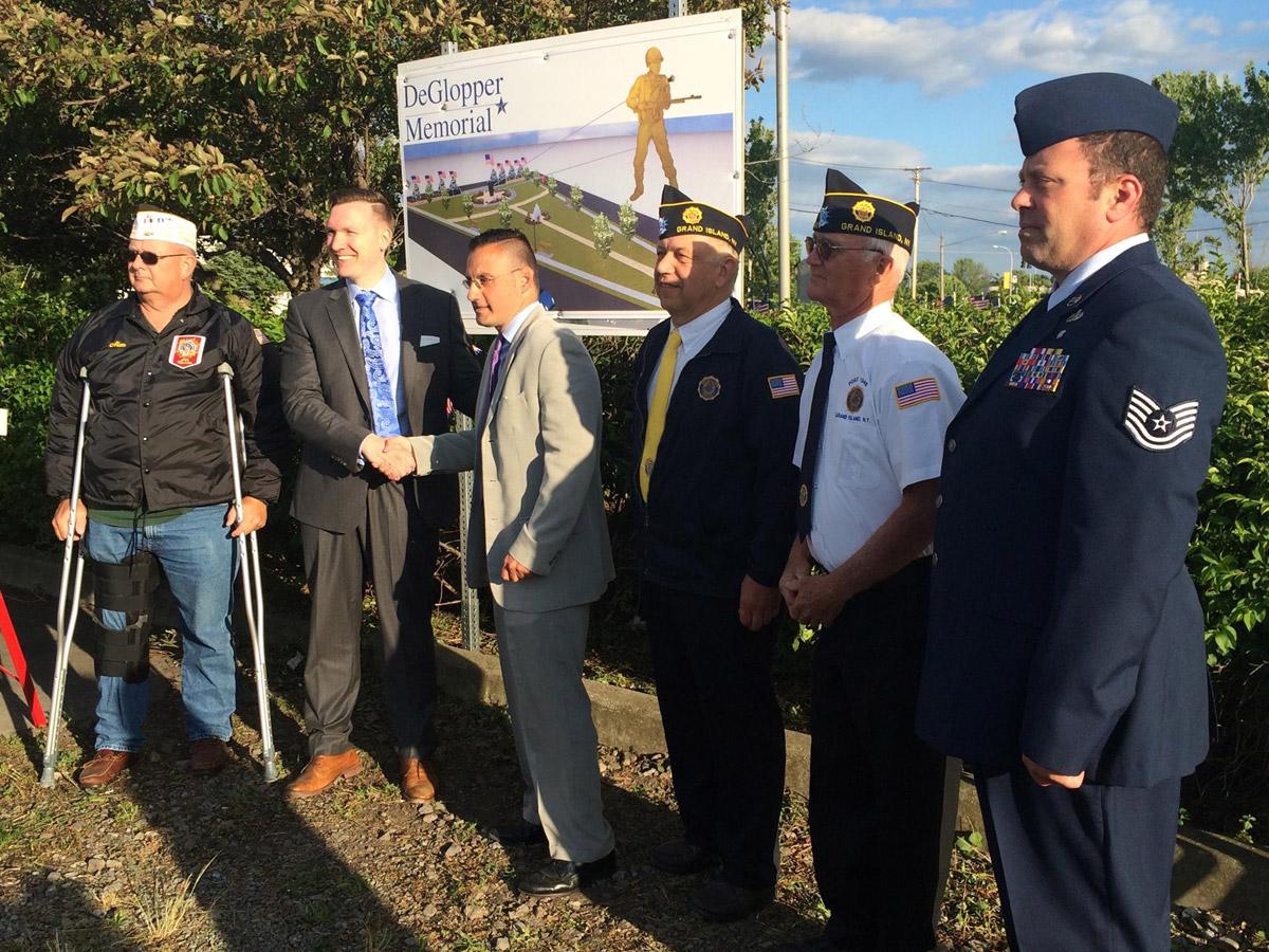 New Memorial honors Grand Island WWII Hero