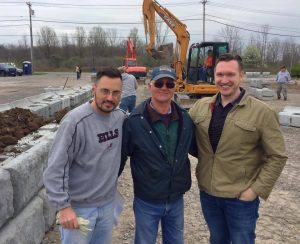 L to R: Eric Anderson, one of the leaders of the Memorial project, DeGlopper, Nate McMurray