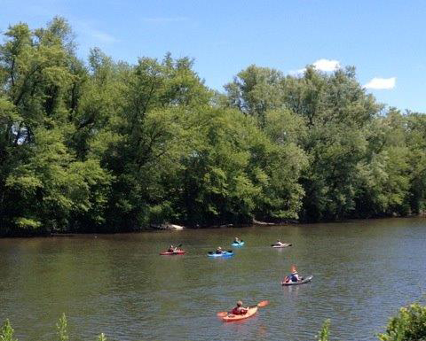 "People kayaking on the Allegheny River between Olean and Allegany, NY. Will Mr. Pegula, owner of the Sabres and Bills, soon be dumping ""treated"" frack wastewater into the river?"