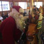 Santa on the Carrousel in North Tonawanda